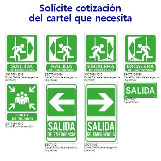 carteles de evacuacion a pedido