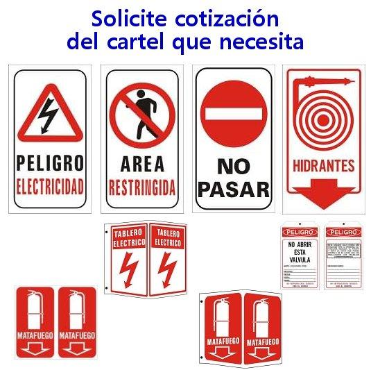 carteles de peligro a pedido
