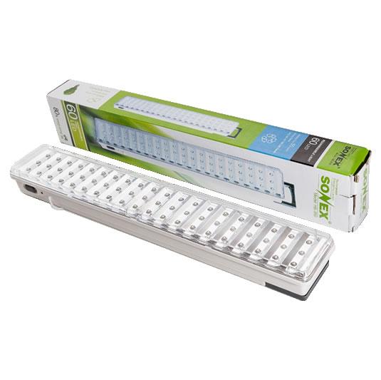 Luces de emergencia de 60 leds portable sonex for Luces emergencia led