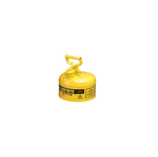 Bidón 10011 0,5 lt Tipo I para inflamables Justrite metalicos - Cap. 0,5lts - Color amarillo para Gas Oil