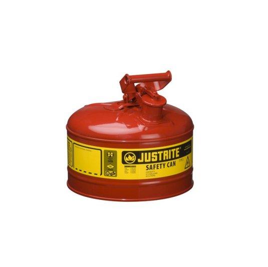 Bidón 7125100 9,5 lt Tipo I para inflamables Justrite (ex 10701) metálicos - Cap. 9,5 lts.