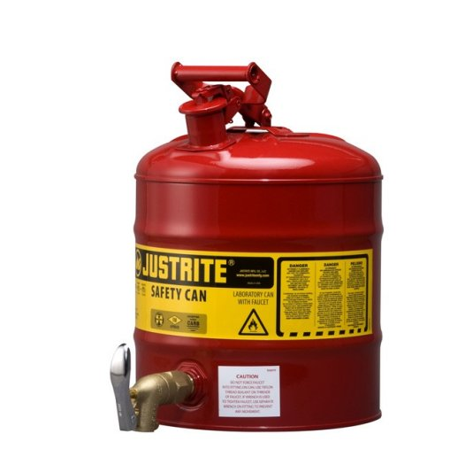 Bidón 7150150 19 lt grifo 08902 para laboratorio metálicos Justrite - 19 lts.