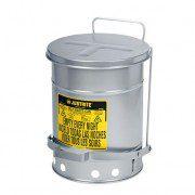 Tanques 9104 23 lt desechos aceitosos Justrite SoundGuard™ - Apertura a pedal - 23 litros - Color plata