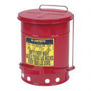 Tanques 9108 23 lt desechos aceitosos Justrite SoundGuard™ - Apertura a pedal - 23 litros - Color rojo