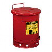 Tanques 9300 38 lt desechos aceitosos Justrite - Apertura a pedal - 38 litros - Color rojo