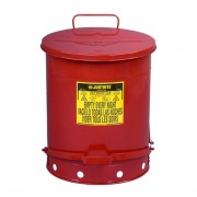 Tanques 9500 53 lt desechos aceitosos Justrite - Apertura a pedal - 53 litros - Color rojo