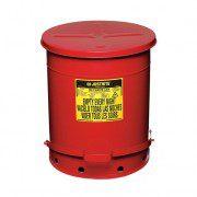 Tanques 9508 53 lt desechos aceitosos Justrite SoundGuard™ - Apertura a pedal - 53 litros - Color rojo