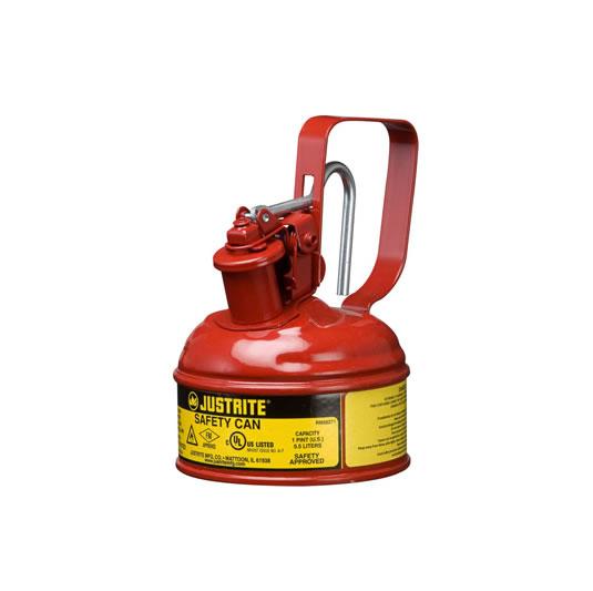Bidones para inflamables Justrite 10001 metalicos Tipo I - Cap. 0,5 lts.