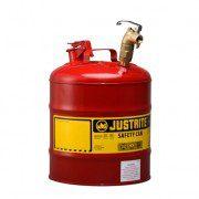 Bidones para laboratorio metálicos Justrite 10879 con grifo 08902 - 19 lts.