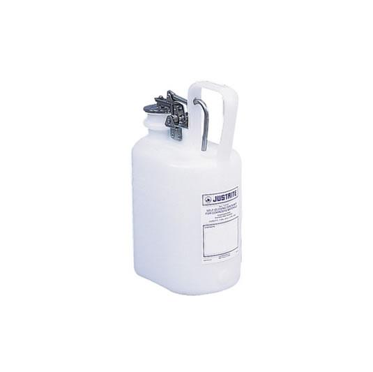 Bidón 12161 4 lt Tipo I plast plásticos para corrosivos Justrite ovalados - 4 lts.