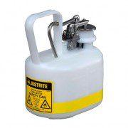 Bidón 12163 2 lt Tipo I plast para ácidos y corrosivos Justrite ovalados plásticos con accesorios de acero inoxidable - Color blanco - 2 lts.