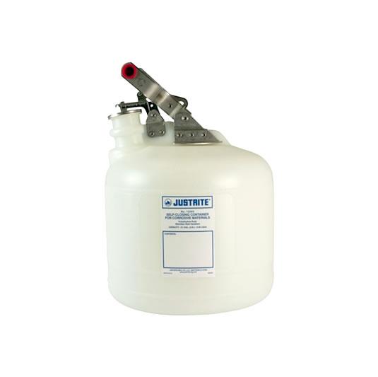 Bidón 12260 9 lt Tipo I plast plásticos para corrosivos Justrite ovalados - 9 lts.