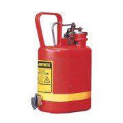 Bidón 14169 4 lt Tipo I plast para ácidos y corrosivos Justrite ovalados plásticos con grifo - 4 lts.