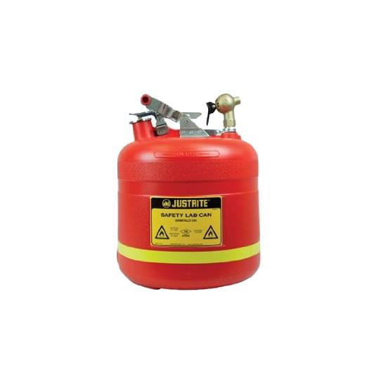 Bidón 14540 19 lt Tipo I plast plásticos para ácidos y corrosivos Justrite ovalados con grifo superior - 19 lts.