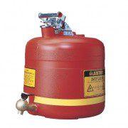 Bidón 14545 19 lt Tipo I plast para ácidos y corrosivos Justrite ovalados plásticos con grifo - 19 lts.