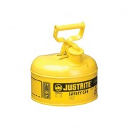 Bidón 7110200 4 lt Tipo I para inflamables Justrite (ex 10211/10311) metalicos Cap. 4 lts - Color amarillo para Gas oil