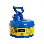 Bidón 7110300 4 lt Tipo I para inflamables Justrite (ex 10210/10310) metalicos - Cap. 4 lts - Color azul para Querosén