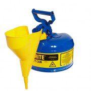 Bidón 7110310 4 lt Tipo I para inflamables Justrite metálicos - Con embudo - Cap. 4 lts - Color azul para Querosén