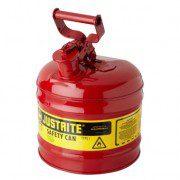 Bidones para inflamables Justrite 7120100 (ex 10501) metálicos Tipo I - Cap. 7,5 lts.