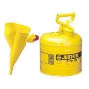 Bidón 7120210 7,5 lt Tipo I para inflamables Justrite metálicos - Con embudo - Cap. 7,5 lts - Color amarillo para Gas oil