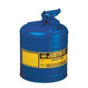 Bidón 7120300 7,5 lt Tipo I para inflamables Justrite (ex 10510) metálicos - Cap. 7,5 lts - Color azul para Querosén