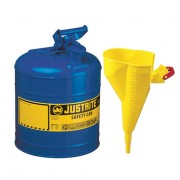 Bidón 7120310 7,5 lt Tipo I para inflamables Justrite metálicos- Con embudo - Cap. 7,5 lts - Color azul para Querosén