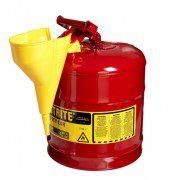 Bidón 7125110 9,5 lt Tipo I para inflamables Justrite (ex 10552/10702) metálicos - Con embudo - Cap. 9,5 lts.
