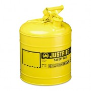 Bidón 7125200 9,5 lt Tipo I para inflamables Justrite (ex 10551/10711) metálicos - Cap. 9,5 lts - Color amarillo para Gas oil