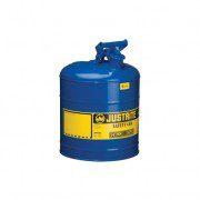 Bidón 7125300 9,5 lt Tipo I para inflamables Justrite (ex 10710) metálicos - Cap. 9,5 lts - Color azul para Querosén