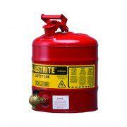 Bidón 7150140 19 lt grifo para laboratorio metálicos Justrite (ex 10807) con grifo 08540 - 19 lts.