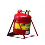 Bidón 7150146 19 lt col grifo para laboratorio metálicos Justrite (ex 10886) basculante con columpio y grifo 08540 - 19 lts.