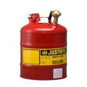 Bidón 7150147 19 lt grifo para laboratorio metálicos Justrite (ex 10877) con grifo 08540 - 19 lts.