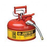 Bidón 7210120 4 lt Tipo II para inflamables Justrite (ex-10327/10345) metálicos de dos bocas y manguera Accuflow™ - 4 lts - Color rojo