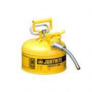 Bidón 7210220 4 lt Tipo II para inflamables Justrite (ex 10326/10368Y) metálicos de dos bocas Accuflow™ - 4 lts - Color amarillo para Gas oil