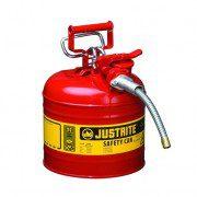 Bidón 7220120 7,5 lt  Tipo II 2 bocas inflamables Justrite (ex 10527) metálicos y manguera Accuflow™ Color rojo