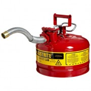 Bidón 7225130 9,5 lt Tipo II para inflamables Justrite (Ex 10721) metálicos de dos bocas y manguera 25mm AccuFlow™ - 9,5 litros - Color rojo