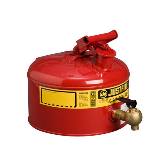 Bidón 7225140 9 lt grifo para laboratorio metálicos Justrite (ex 10707) con grifo 08540 - 9 lts.
