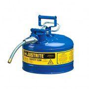 Bidón 7225320 9,5 lt Tipo II para inflamables Justrite (Ex 10668B/10768B/10728B) metálicos de dos bocas y manguera 16mm AccuFlow™ - 9,5 litros - Color azul para Querosén