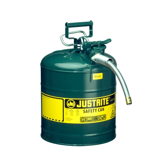 Bidón 7250420 19 lt Tipo II para inflamables (Ex 10868E/10828E) de dos bocas y manguera AccuFlow™ - 19 lts - Color verde para Aceite