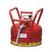 Bidón 7325120 9 lt Tipo II DOT para inflamables Justrite con manguera - 9 litros - Color rojo