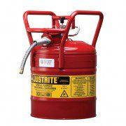 Bidón 7350110 19 lt Tipo II DOT para inflamables Justrite con manguera - 19 litros - Color rojo