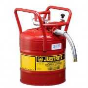 Bidón 7350130 19 lt Tipo II DOT para inflamables Justrite (Ex 10840) con manguera - 19 litros - Color rojo