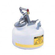 Bidón PP12752 8 lt Tipo I plast para laboratorio no metálicos Justrite Centura™ Modelo PP 8 lts.