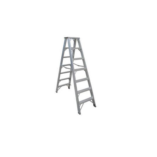 Escaleras de aluminio tijera doble acceso 113 Kgs
