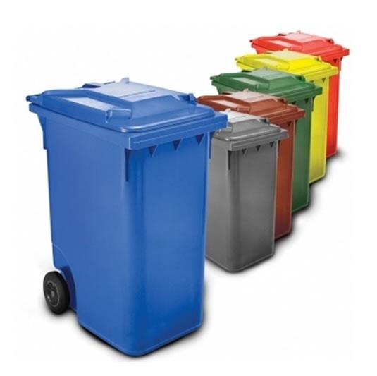 Contenedores 120 L 2 ruedas para residuos Plásticos de 120 litros
