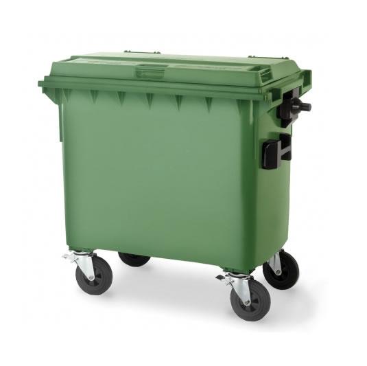 Contenedores para residuos - Plásticos de 660 litros - 4 ruedas