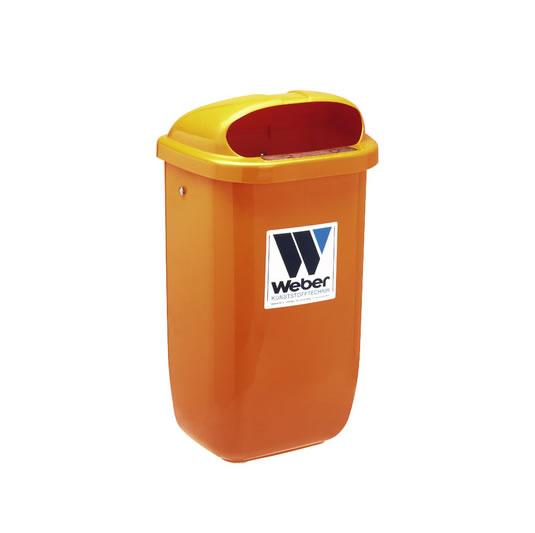 Contenedor para residuos para postes, barras o paredes - 50 litros