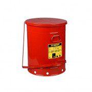 Tanques 9708 79 lt desechos aceitosos Justrite SoundGuard™ - Apertura a pedal - 79 litros - Color rojo