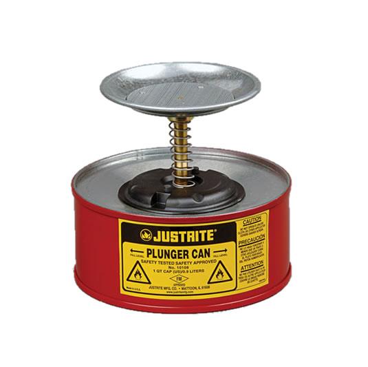 Humectadores 10108 1 lt de seguridad con pistón Justrite - Color rojo