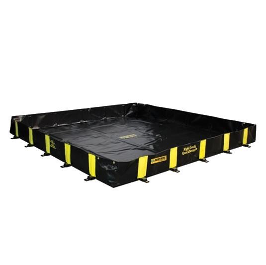 Piletas 28500 2250 lts derrame para contención de derrames Justrite QuickBerm® Plus - 2,44 x 3,05 x 0,30 mts